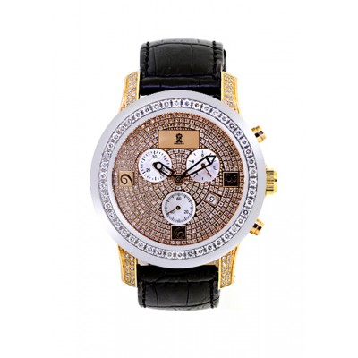 Rafaello & Co Royal White Diamond Two-Tone Rose Gold Watch