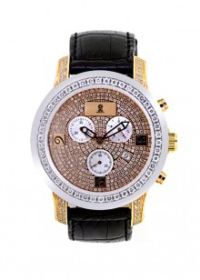 Rafaello & Co Royal White Diamond Two-Tone Rose Gold Watch