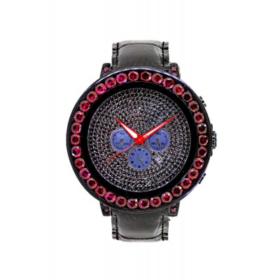 Rafaello & Co Eclipse Red Black Ruby Watch