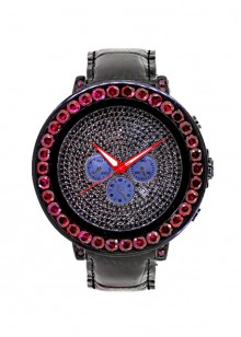 Rafaello & Co Eclipse Red Black Ruby Watch