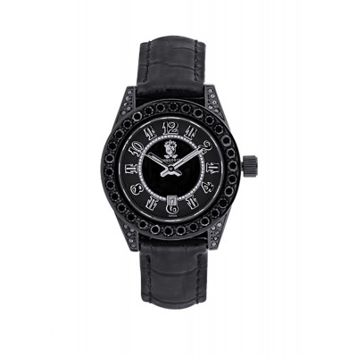 Rafaello & Co Eclipse Ladies Black Diamond Watch