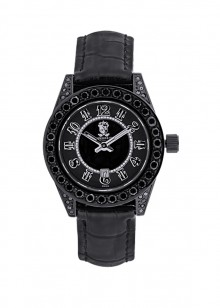 Rafaello & Co Eclipse Ladies Black Diamond Watch