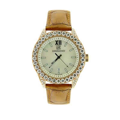 Rafaello & Co Eclipse Rose Gold Mother of Pearl Diamond Watch