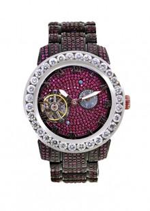 Rafaello & Co Scorpion White Diamond and Ruby Watch