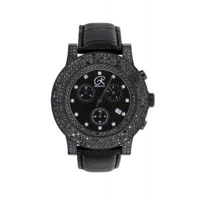 Rafaello & Co Blackout Black and White Diamond Watch