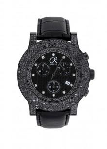 Rafaello & Co Blackout Black and White Diamond Watch