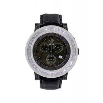 Rafaello & Co  Blackout Phantom Black and White Diamond Watch