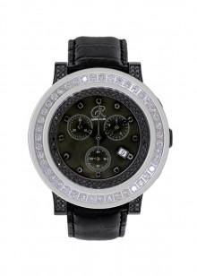 Rafaello & Co  Blackout Phantom Black and White Diamond Watch