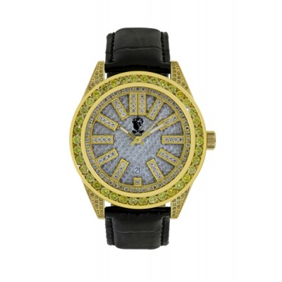 Rafaello & Co Eclipse Yellow White Diamond Watch