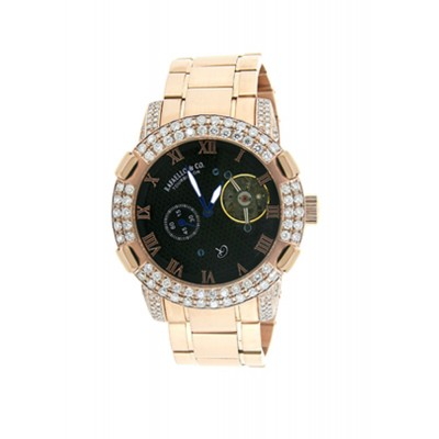 Rafaello & Co Scorpion White Diamond Rose Gold Watch