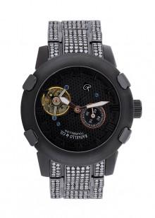 Rafaello & Co Scorpion White Diamond Black Tourbillon Watch