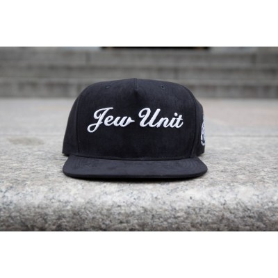"Rafaello Kings© Suede ""Jew Unit"" Black/White Snapback"