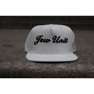 "Rafaello Kings© Suede ""Jew Unit"" White/Black Snapback"